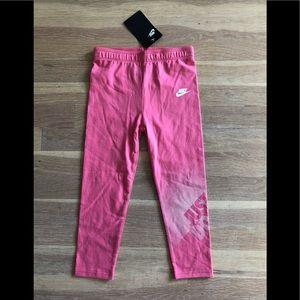 Girls Nike pink leggings size 4T NWT